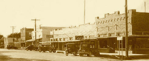 Downtown Bertram, circa 1930