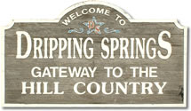 Dripping Springs Welcome Sign