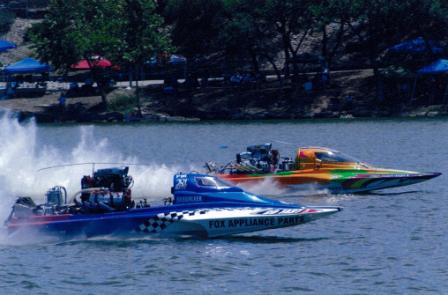 Lake Fest Boat Races on Lake Marble Falls