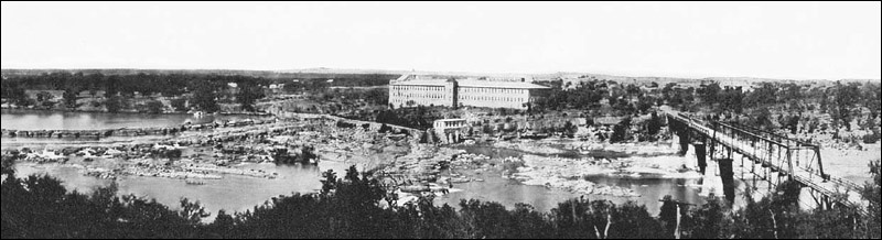 The Falls in 1951 just before the Dam was constructed.