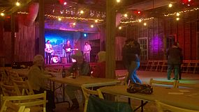 The bands starts at Sisterdale Dance Hall
