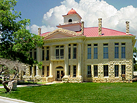 Blanco County Courthouse in Johnson City, TX